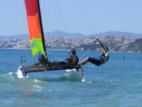 Windsurfing and sailing
